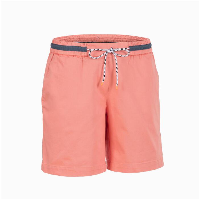 女款航海短褲SAILING 100-粉紅色