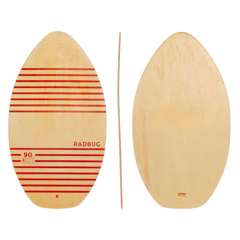 Skimboard Szörfözés - Gyerek skimboard 100-as, fa RADBUG - Vizisportok - OLAIAN, ITIWIT, ORAO, SUBEA