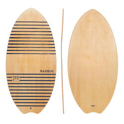 Skimboard 100 Holz Erwachsene