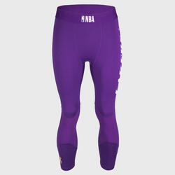 Men's Base Layer Capri Basketball Leggings - Purple/NBA Los Angeles Lakers