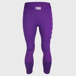 男款七分籃球緊身褲 - 紫色/NBA洛杉磯湖人隊