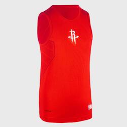 Camisola Térmica Basquetebol UT500 NBA HOUSTON ROCKETS Corte Slim Criança