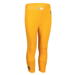 Pantaloni 3/4 basket junior NBA GOLDEN STATE WARRIORS gialli