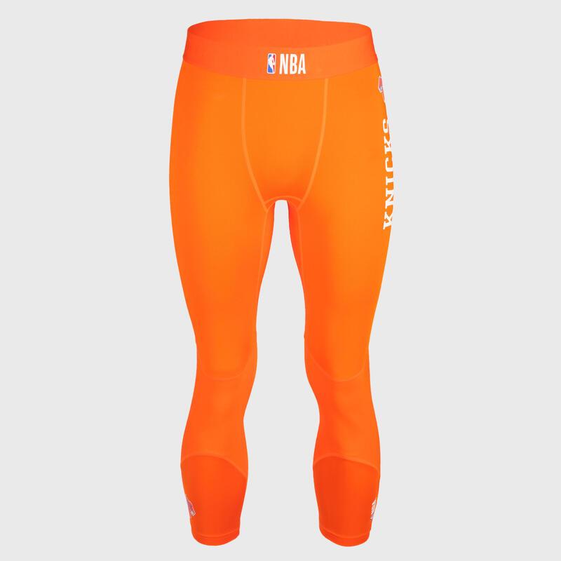 Pánské basketbalové spodní 3/4 legíny NBA New York Knicks oranžové