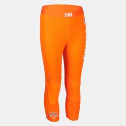 兒童款籃球緊身褲Capri - 橘色/NBA紐約尼克隊