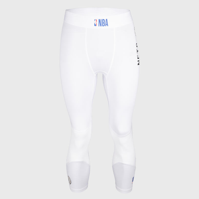 Men's Base Layer Basketball Capri Leggings - White/NBA Brooklyn Nets