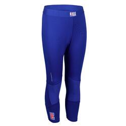 兒童款籃球緊身褲Capri - 藍色/NBA洛杉磯快艇隊