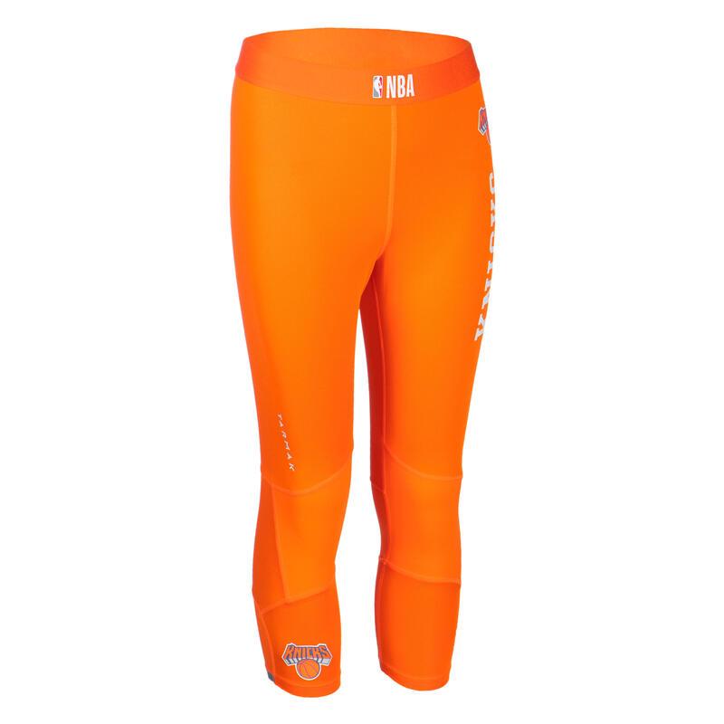 Pantaloni 3/4 basket junior NBA NEW YORK KNICKS arancioni
