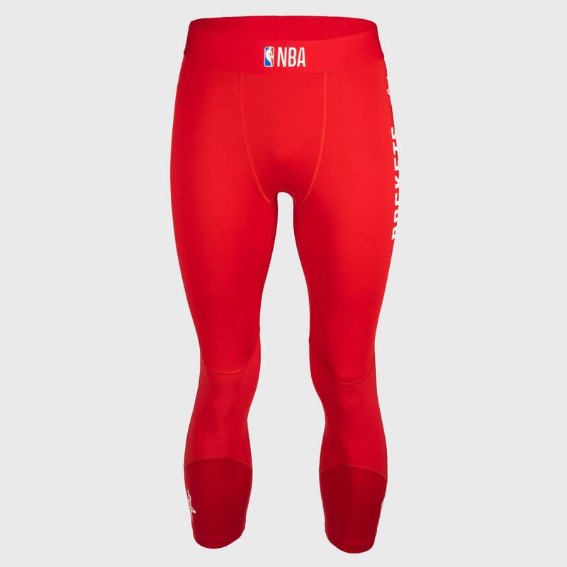 Men's Base Layer Capri Basketball Leggings - Red/NBA Houston Rockets