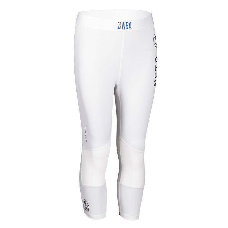 Pantaloni 3/4 basket junior NBA BROOKLYN NETS bianchi
