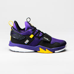 CHAUSSURES DE BASKETBALL POUR GARCON/FILLE SS500M VIOLET NBA LOS ANGELES LAKERS