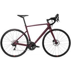 Bicicleta de Estrada EDR Carbono Disco Shimano 105 Mulher Bordô