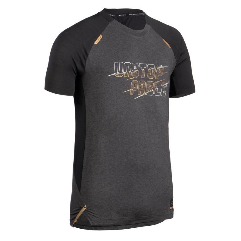男款籃球T恤TS900-黑灰金配色