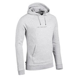 Basketbal hoodie voor heren H100 lichtgrijs