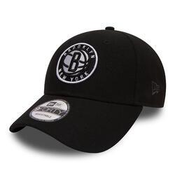 Casquette de basketball pour adulte des Brooklyn Nets noire