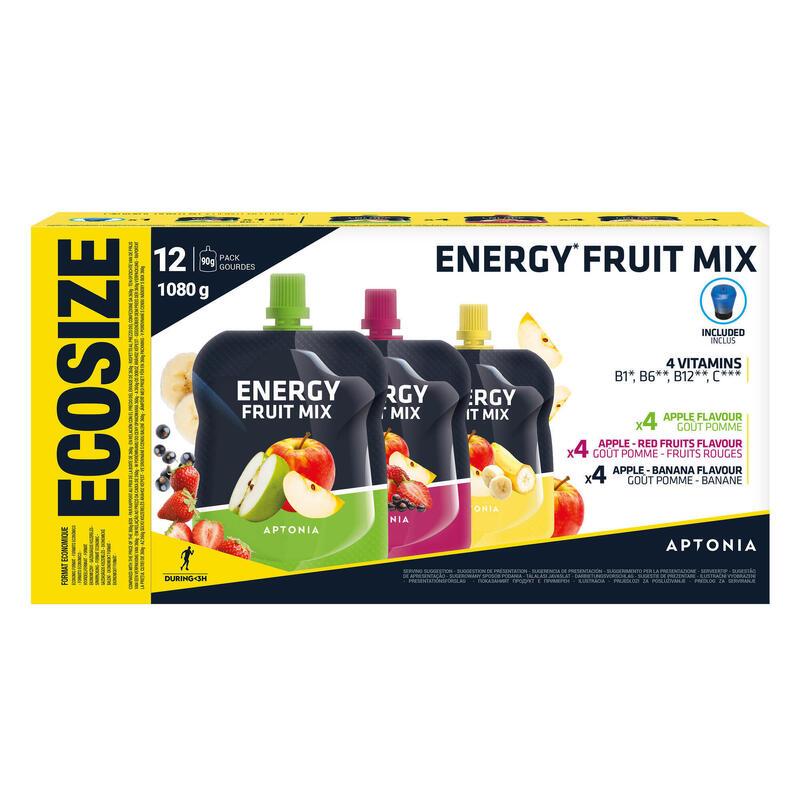 Spécialité de fruits énergétique 12x90g Pomme, Pomme-Banane, Pomme-Fruits Rouges