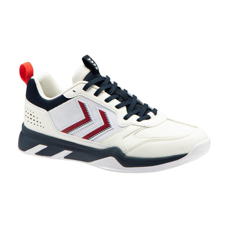 Chaussures de handball homme femme TEIWAZ blanc / bleu / rouge