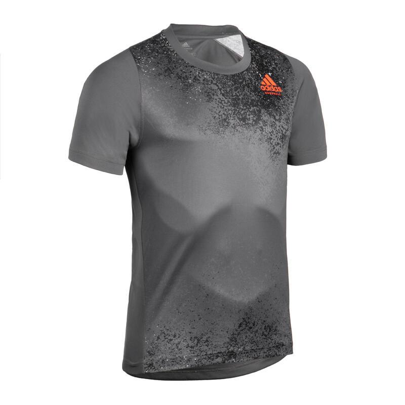 Herenshirt voor handbaltraining grijs/zwart