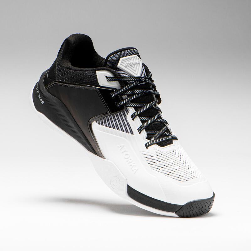 Chaussures de handball homme H900 STRONGER blanc noir