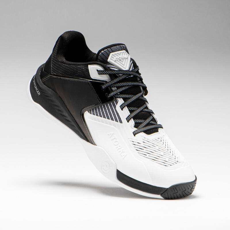 Zapatillas Balonmano Atorka H900 STRONGER Adulto Blanco Negro
