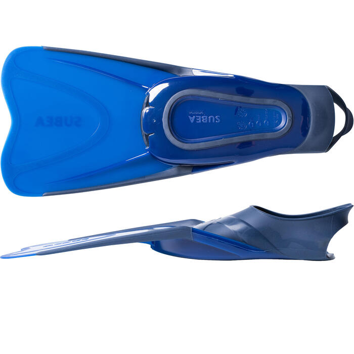 Kit de snorkeling masque Easybreath palmes bleu Junior / Enfant