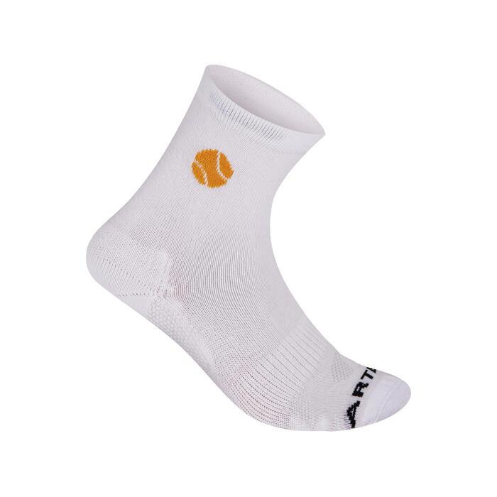 Kids' High Tennis Socks Tri-Pack RS 160 - White/Yellow
