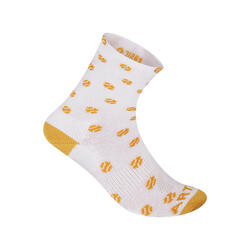 Kids' High Tennis Socks Tri-Pack RS 160 - White/Yellow