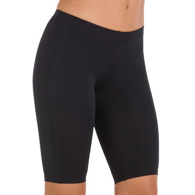 Long Shorts Swimsuit Bottoms - Black