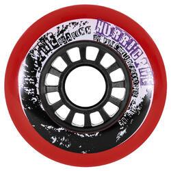 Rodas para Patins de Freeride HURRICANE 78 mm 85A Vermelho x4