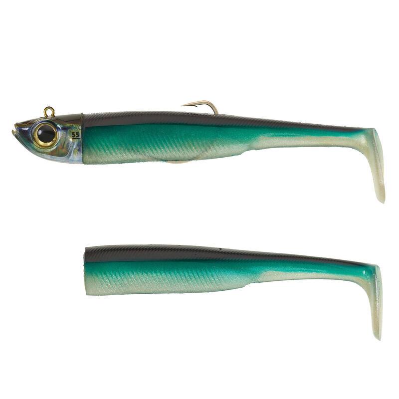 Set năluci pescuit marin shad texan anșoa ANCHO 150 55g albastru
