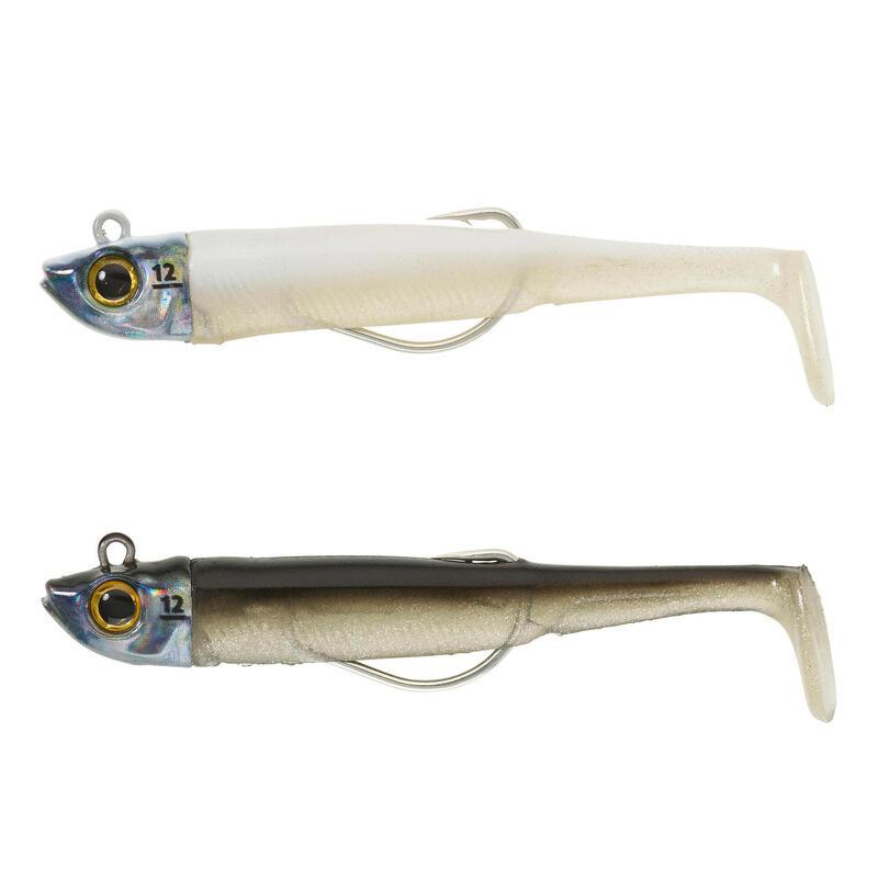 Softbaits voor zeevis Texas Ancho 90 12 g zwarte rug/zilver en wit