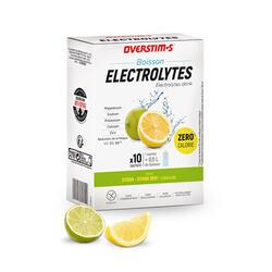 Overstims Boisson électrolytes citron (zéro calorie) - étui 10 sachets x 8 g