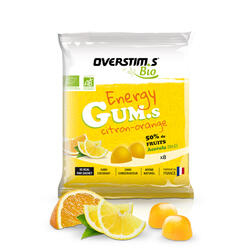 Overstims Energy gums bio citron orange - sachet 8 gums