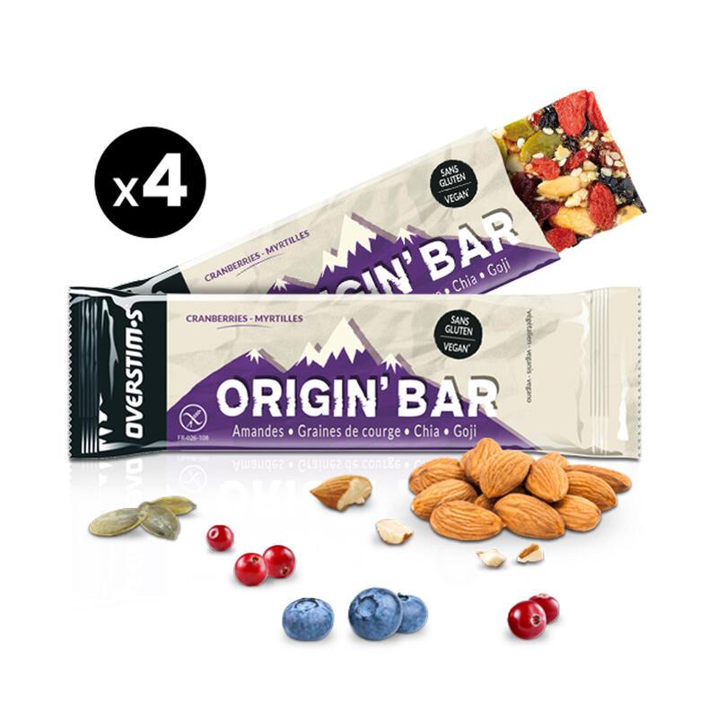 Overstims Barre Origin' Bar cranberrie myrtille - 4x40g