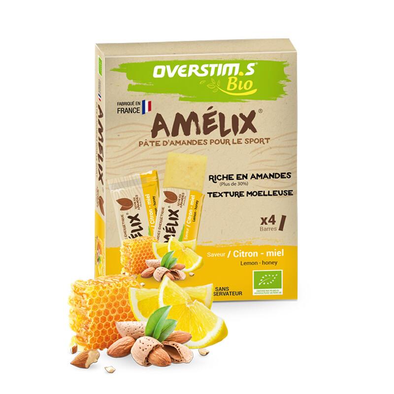 Overstims Barre Amélix bio citron-miel - 4x25g