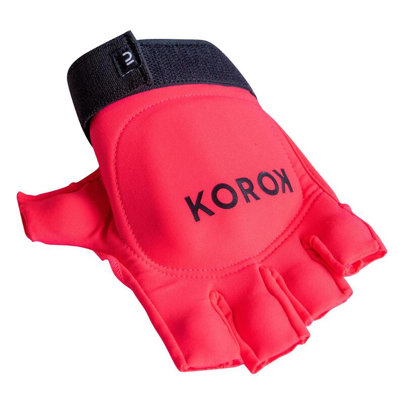 Hockeyhandschoen halve vinger voor kinderen en volwassenen FH100 roze