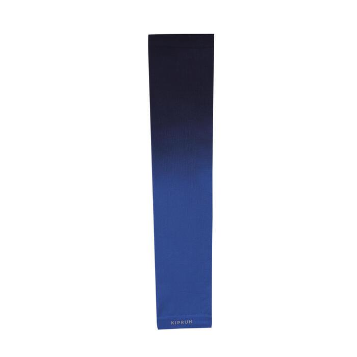 跑步防寒袖套 - 黑色/藍色