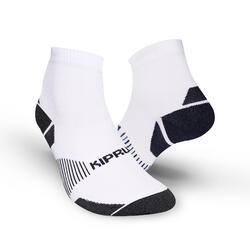CHAUSSETTES DE RUNNING RUN900 FINES MID BLANCHES ECO-CONCUES