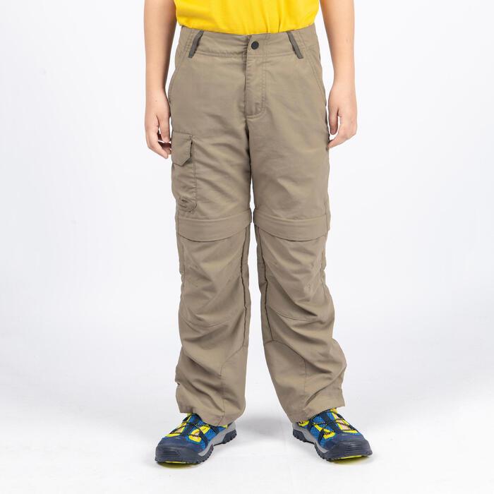 男童款模組褲MH500-咖啡色