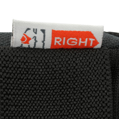 Set 3 protections roller skateboard trottinette adulte FIT500 gris blanc