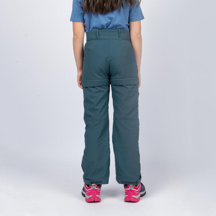 女童款模組褲MH500-藍色/灰色