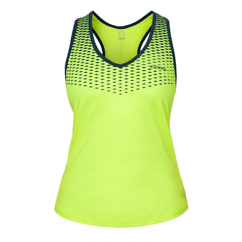 Camiseta de tirantes de pádel mujer PTK 900 M Amarillo