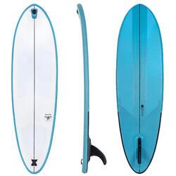 """充氣式輕巧衝浪板Surfing 500 Compact 6'6""""。"""
