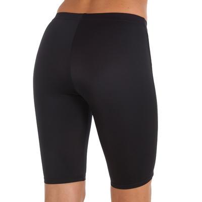Long shorty swimsuit bottoms - black