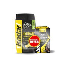 Isostar Promo Poudre Hydrate & Perform lemon et Gel lemon en sachet