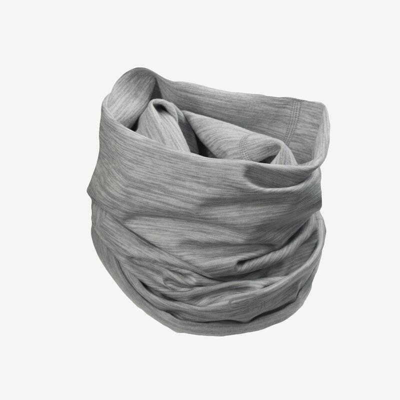 Fascia multiuso running grigio melange