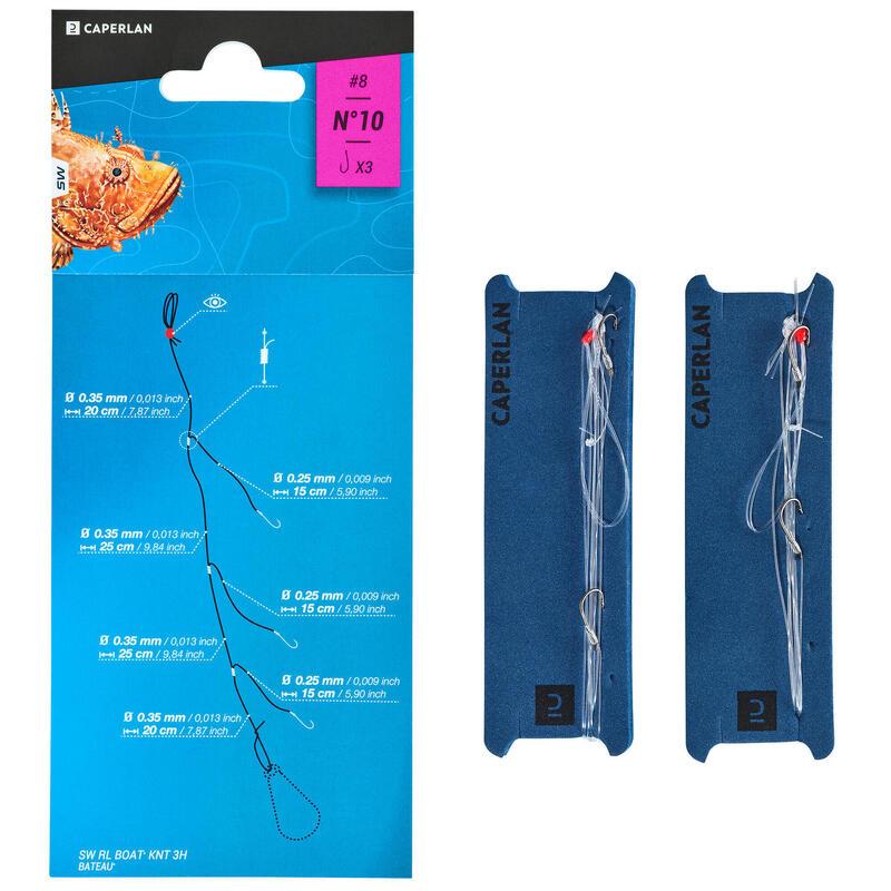 Mounted lines RL LEDGERING-1 3xH8 x2 sea fishing