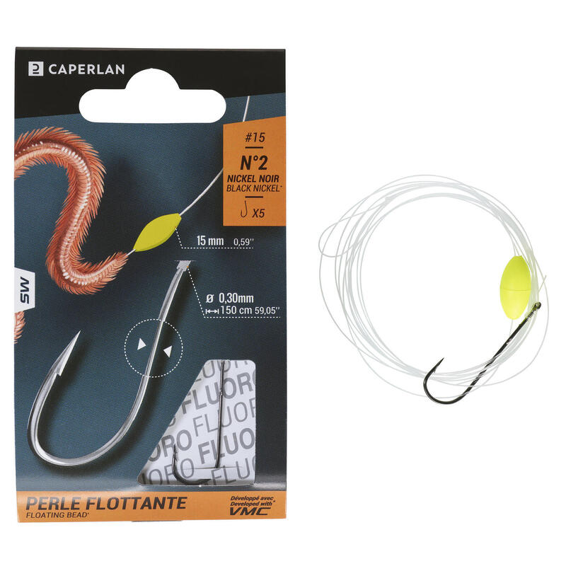 Stainless-steel eyed hooks to line sea fishing SN FLOATING BEAD