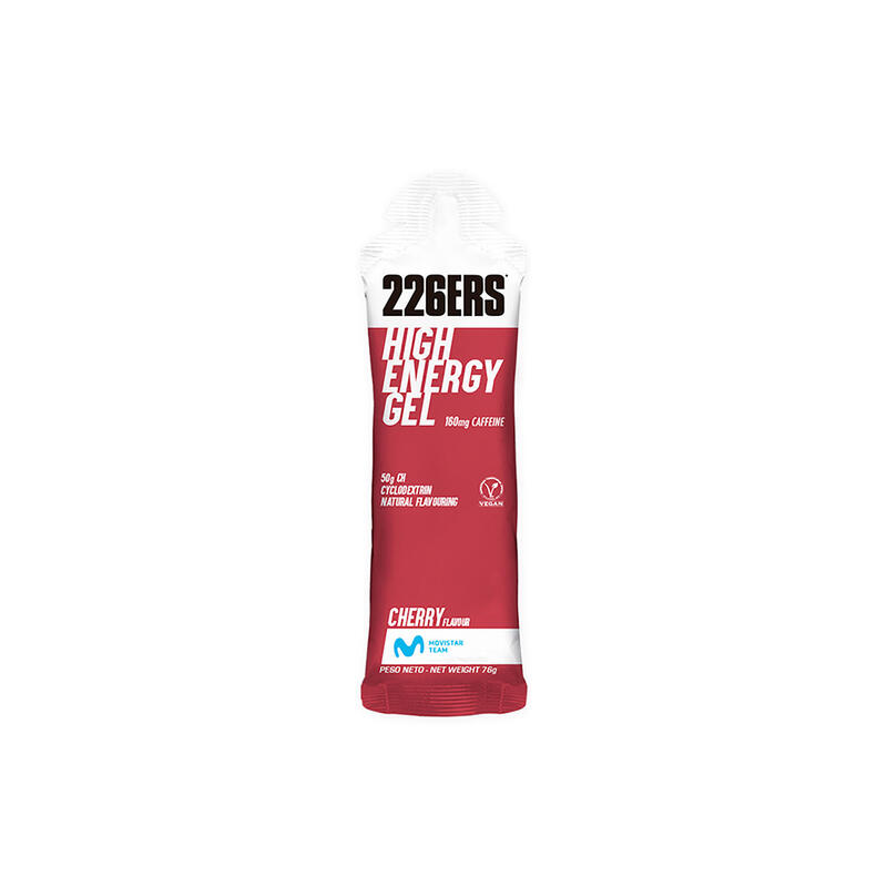 Gel Energético 226ers Cereza con cafeína BIO