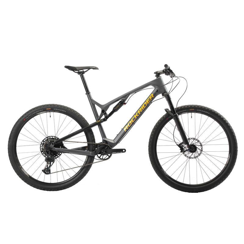 Bicicleta MTB doble suspensión Rockrider XC 500 S 29'' Carbono